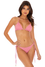 RIVER DANCE - Triangle Top & Wavey Ruched Back Tie Side Bottom • Blush