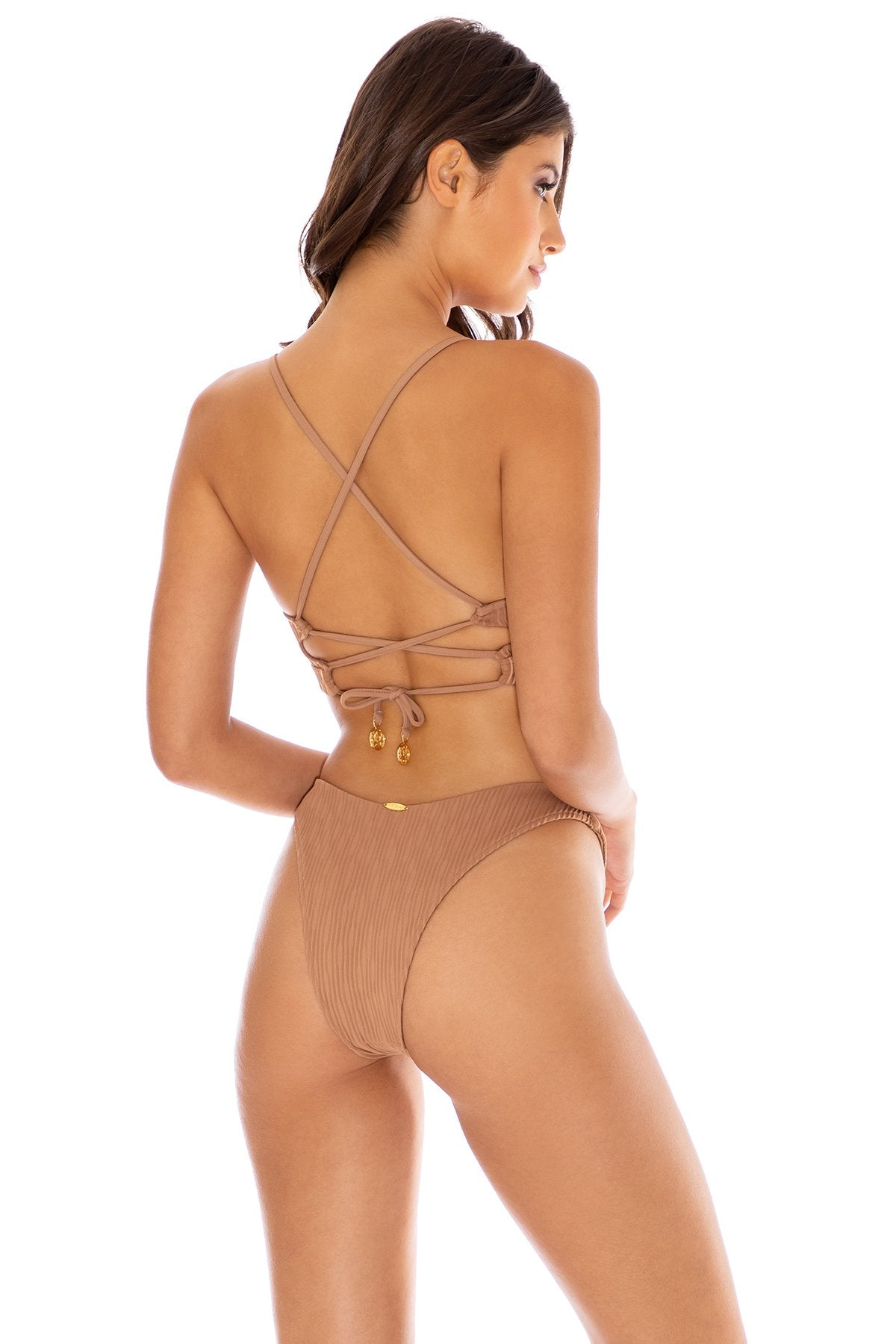 RIVER DANCE - Underwire Top & High Leg Bottom • Coconut