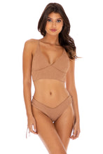 RIVER DANCE - Cross Back Bustier Top & Drawstring Side  Bottom • Coconut