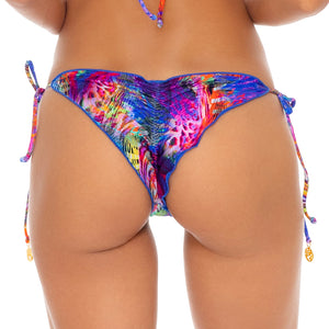 ISLA HOLBOX - Wavey Ruched Back Tie Side Bottom