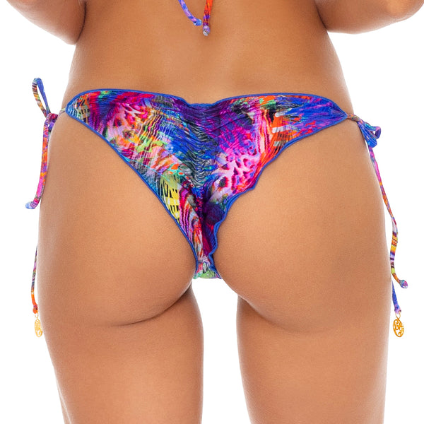 ISLA HOLBOX - Wavey Ruched Back Tie Side Bottom (3924814561382)