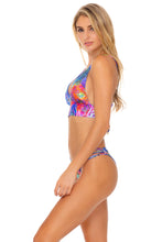 ISLA HOLBOX - Cross Back Bustier Top & Strappy Ruched Back Bottom • Multicolor