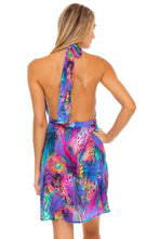 ISLA HOLBOX - Deep Plunge Mini Dress • Multicolor Runway