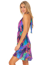 ISLA HOLBOX - Deep Plunge Mini Dress • Multicolor