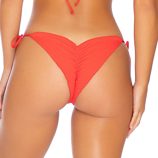 PURA CURIOSIDAD - Wavey Ruched Back Tie Side Bottom (3929487736934)