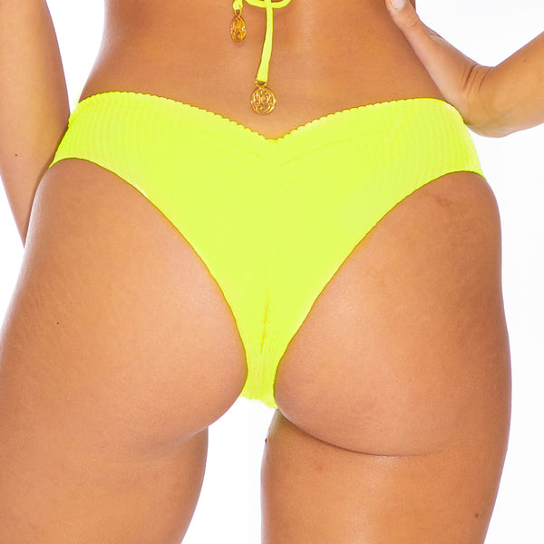 PURA CURIOSIDAD - Seamless Wavey Ruched Back Bottom (3929487343718)