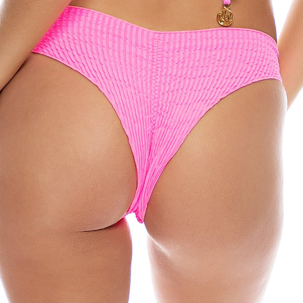 PURA CURIOSIDAD - Seamless Wavy Ruched Back Bottom