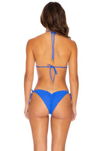 PURA CURIOSIDAD - Triangle Top & Wavey Ruched Back Tie Side Bottom • Blue Lagoon