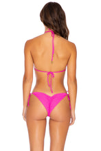 PURA CURIOSIDAD - Triangle Top & Wavey Ruched Back Tie Side Bottom • Pretty Pink