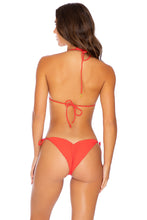 PURA CURIOSIDAD - Triangle Top & Wavey Ruched Back Tie Side Bottom • Chili Pepper