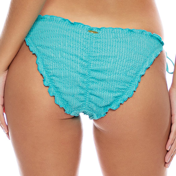 PURA CURIOSIDAD - Wavy Ruched Back Full Tie Side Bottom
