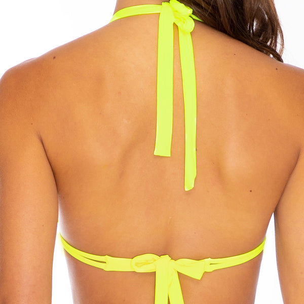 PURA CURIOSIDAD - Triangle Halter Top (3929487409254)