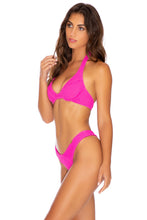 PURA CURIOSIDAD - Halter Underwire Top & Tab Side High Leg Thong Bottom • Pretty Pink