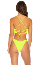 PURA CURIOSIDAD - Underwire Top & High Leg Bottom • Neon Yellow