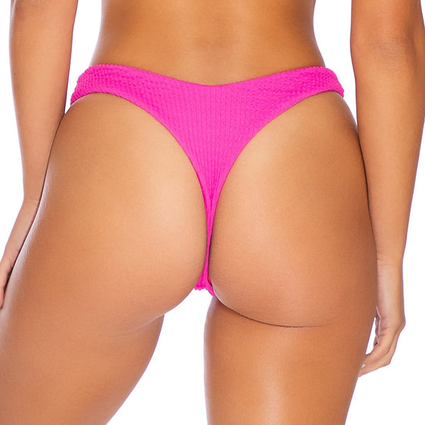 PURA CURIOSIDAD - Tab Side High Leg Thong Bottom (4172710281318)