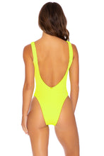 PURA CURIOSIDAD - Tank Open One Piece • Neon Yellow
