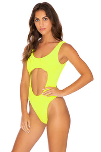 PURA CURIOSIDAD - Tank Open One Piece • Neon Yellow (4172649496678)