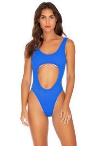 PURA CURIOSIDAD - Tank Open One Piece • Blue Lagoon