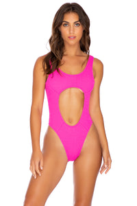 PURA CURIOSIDAD - Tank Open One Piece • Pretty Pink