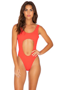 PURA CURIOSIDAD - Tank Open One Piece • Chili Pepper