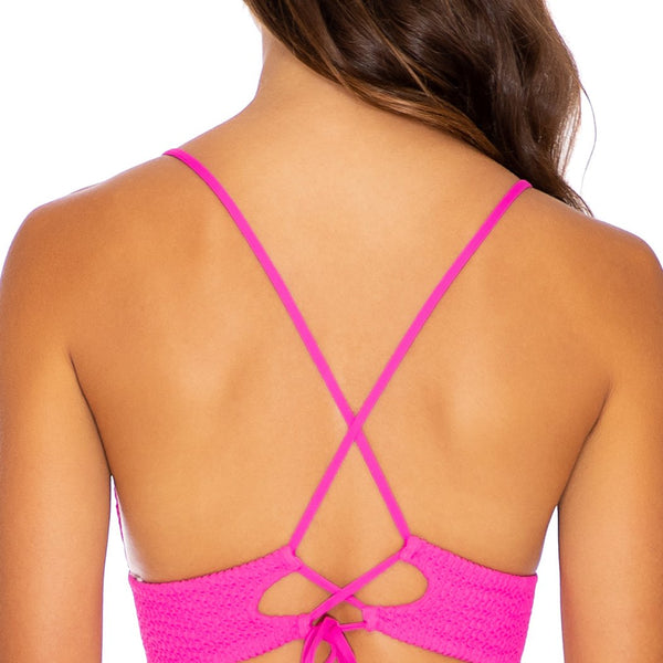 PURA CURIOSIDAD - Cross Back Bustier Top (3929487147110)