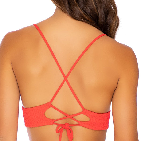 PURA CURIOSIDAD - Cross Back Bustier Top