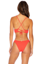 PURA CURIOSIDAD - Cross Back Bustier Top & Banded Moderate Bottom • Chili Pepper