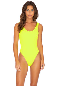 PURA CURIOSIDAD - Tank One Piece • Neon Yellow (3929504120934)