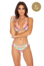 HEAT WAVES - Triangle Halter Top & Full Bottom • Multicolor