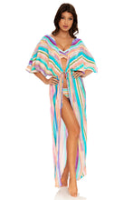 HEAT WAVES - Long Open Tunic • Multicolor