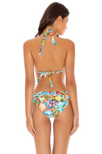 JUST WING IT - Triangle Halter Top & Banded Full Bottom • Multicolor