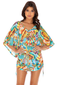 JUST WING IT - Cabana V Neck Dress • Multicolor
