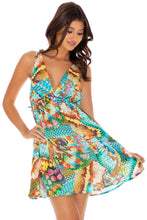 JUST WING IT - V Neck Short Dress • Multicolor
