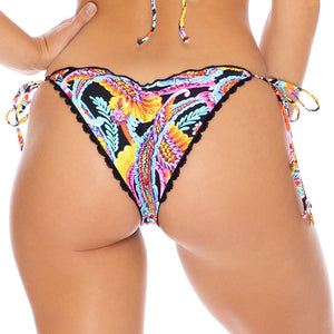 MOON NIGHTS - Wavey Ruched Back Tie Side Bottom