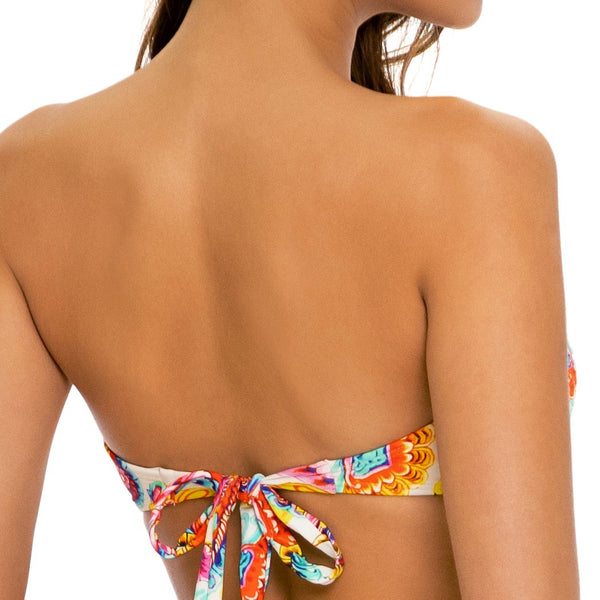 SUMMER LOVE - Gold V Ring Bandeau Top