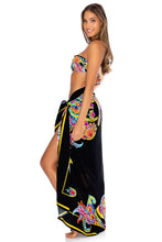 MOON NIGHTS - Gold V Ring Bandeau Top & Pareo • Multicolor