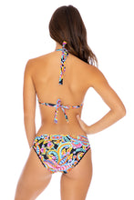 MOON NIGHTS - Triangle Halter Top & Banded Full Bottom • Multicolor
