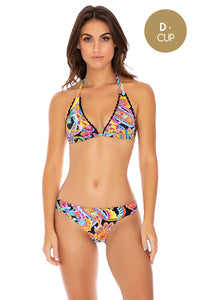 MOON NIGHTS - Triangle Halter Top & Banded Full Bottom • Multicolor (3951920709734)