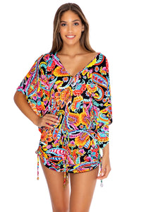 MOON NIGHTS - Cabana V Neck Dress • Multicolor (3951920414822)