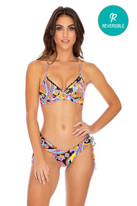 MOON NIGHTS - Underwire Top & Drawstring Side  Bottom • Multicolor