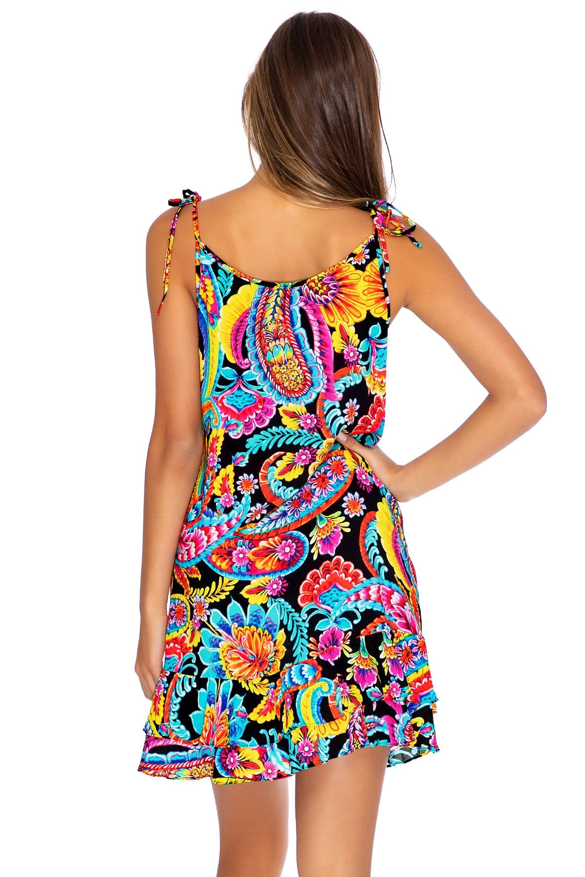 MOON NIGHTS - Ruffle Dress • Multicolor (3951920578662)