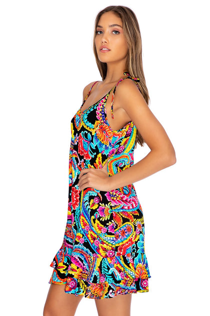 MOON NIGHTS - Ruffle Dress • Multicolor