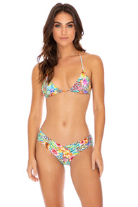 LULI'S JUNGLE - Triangle Top & Moderate Bottom • Multicolor