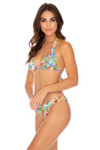 LULI'S JUNGLE - Triangle Halter Top & Banded Full Bottom • Multicolor