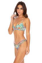 LULI'S JUNGLE - Underwire Top & Strappy Ruched Back Bottom • Multicolor