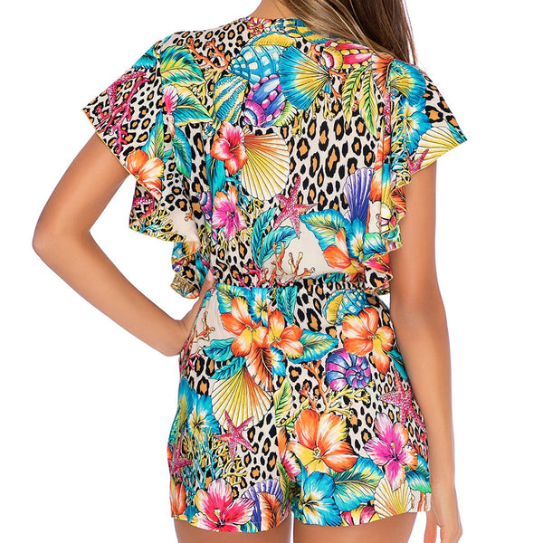 LULI'S JUNGLE - Front Knot Romper