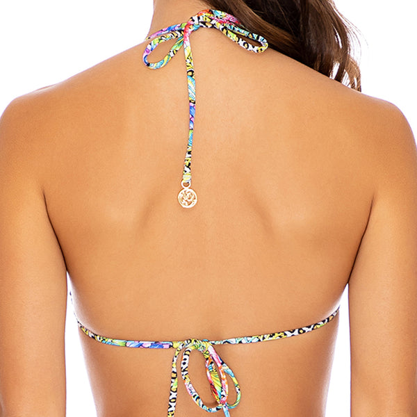 LULI'S JUNGLE - Ring Drawstring Halter Bandeau