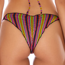 JUNGLE GLOW - Wavey Ruched Back Tie Side Bottom
