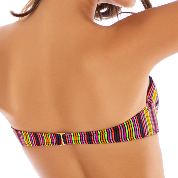 JUNGLE GLOW - Underwire Push Up Bandeau Top