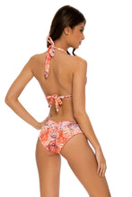 SKINS - Triangle Halter Top & Seamless Full Ruched Back Bottom • Coral Snake